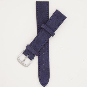 blauw-velours-strap-leren-horlogebandje