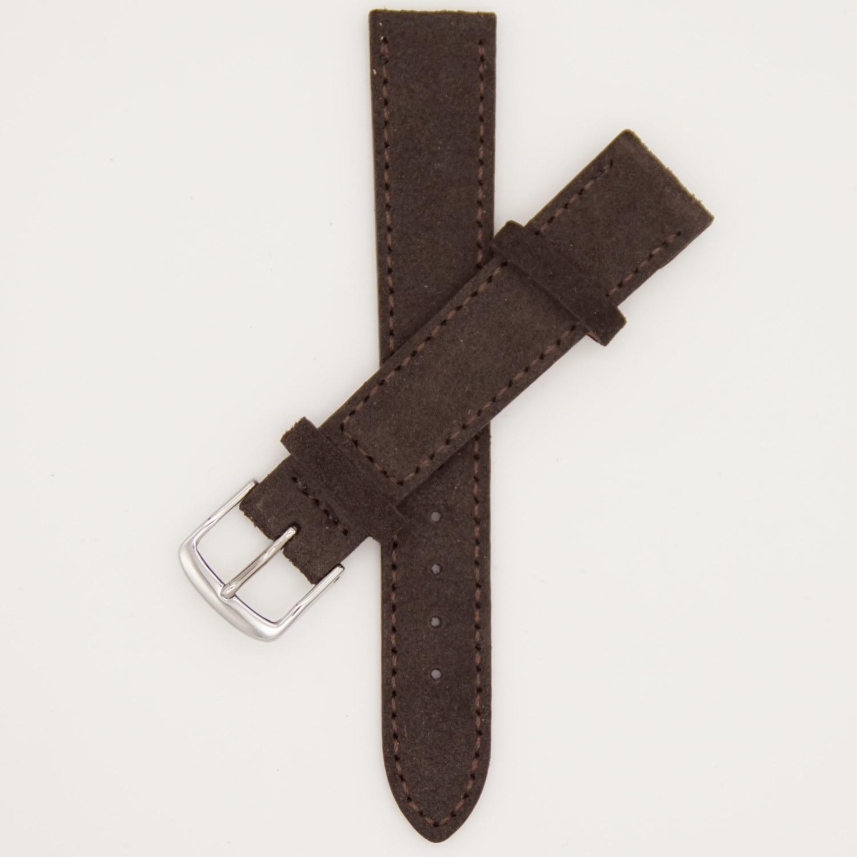 donkerbruin-velours-strap-leren-horlogebandje