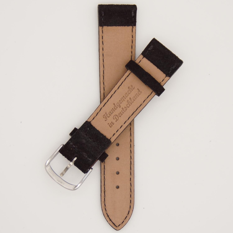 zwart-velours-strap-leren-horlogebandje-achterkant