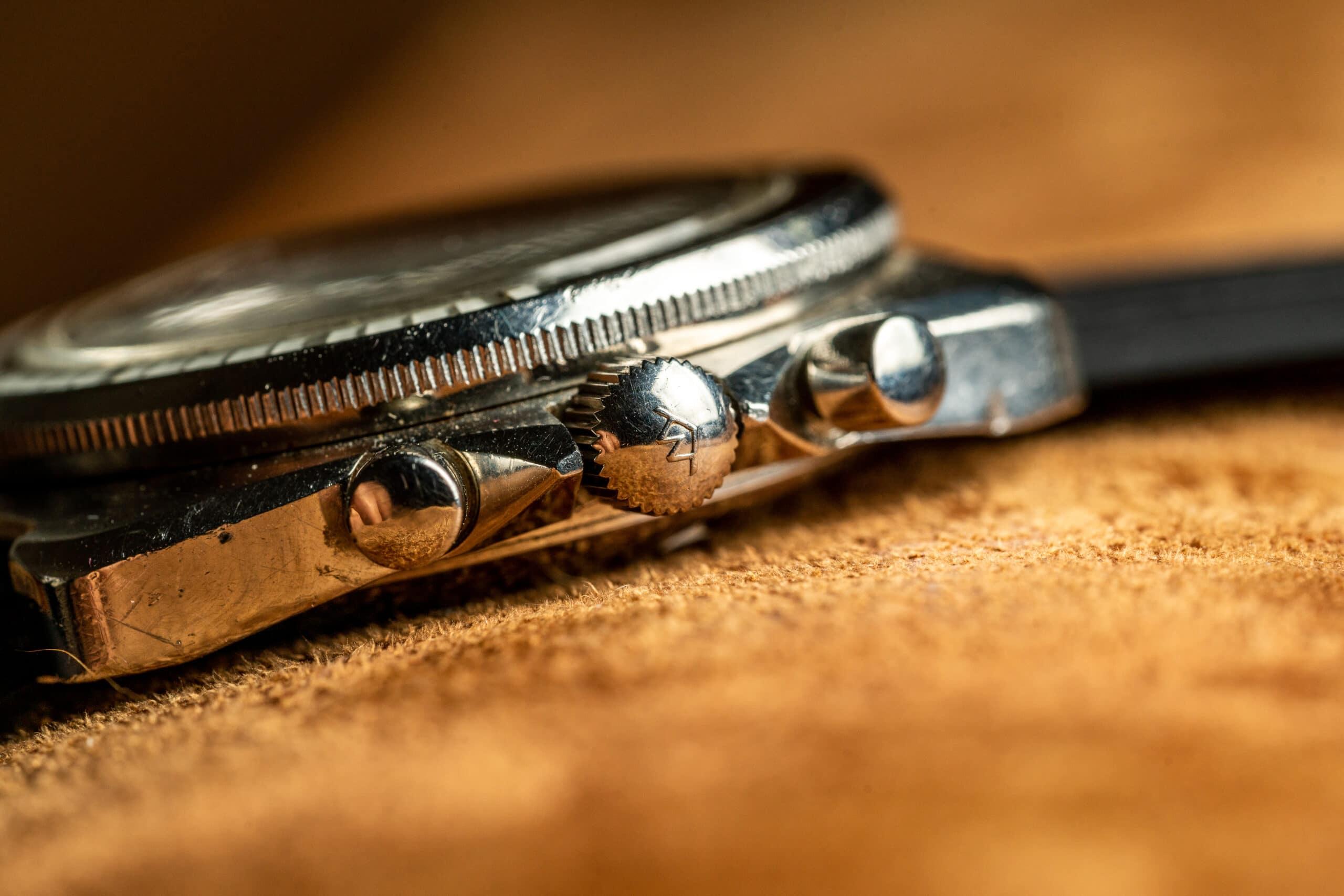 Vintage Movado Datron hs360 zenith el primero watch crown