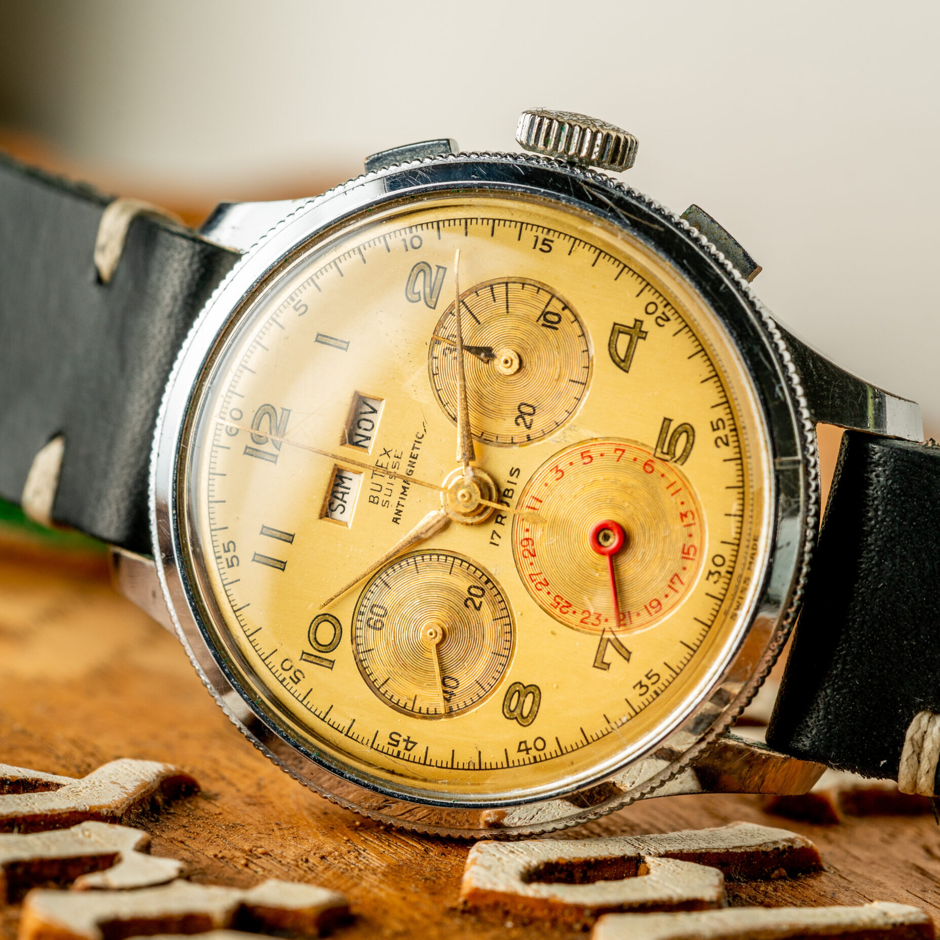 Vintage Butex Chronograph Triple Calendar watch