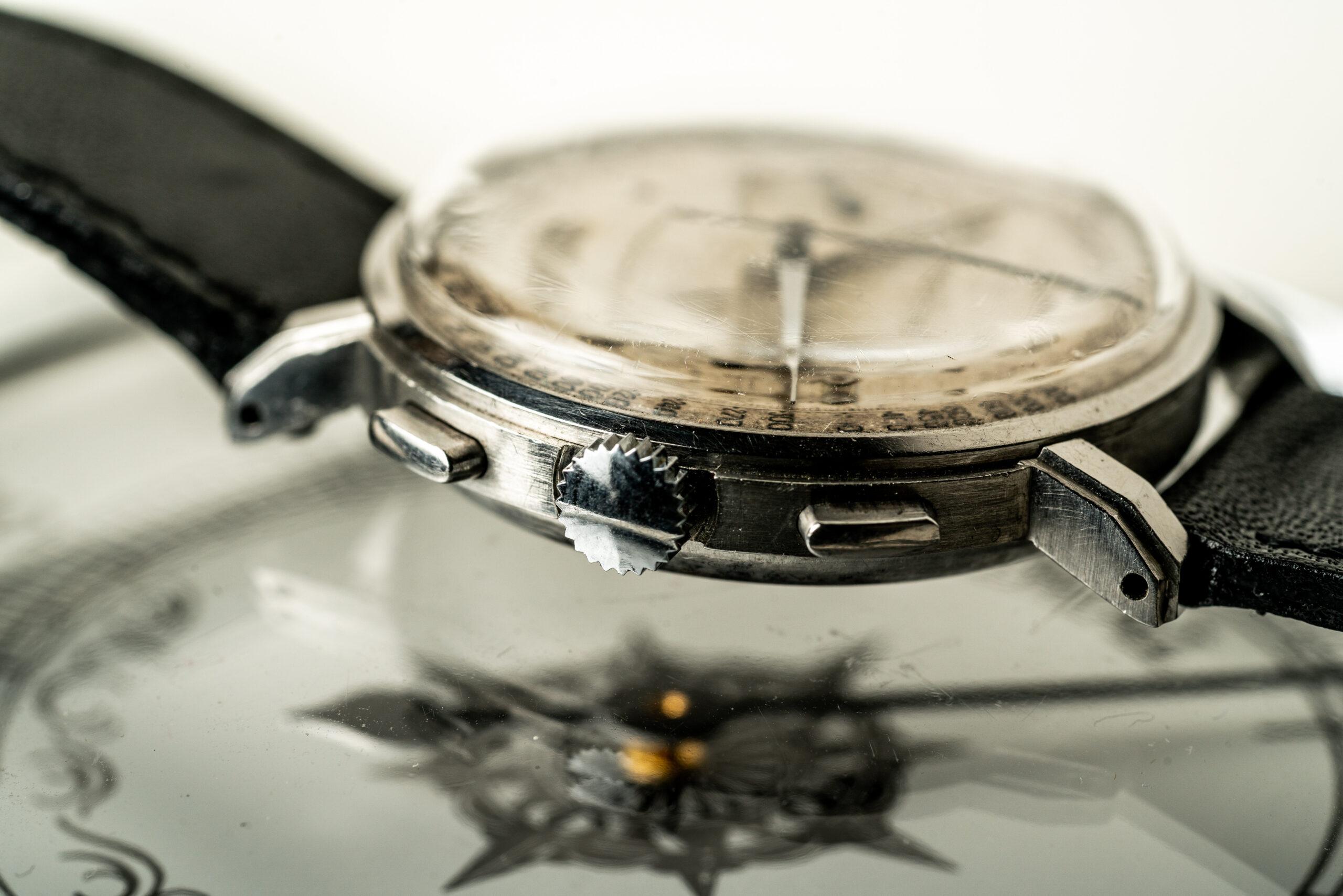 Movado chronograaf 19023 horloge jaren 40 kroon