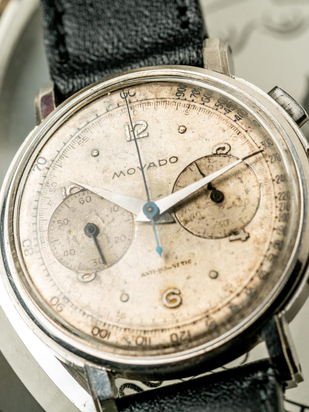 Movado chronograaf 19023 horloge jaren 40