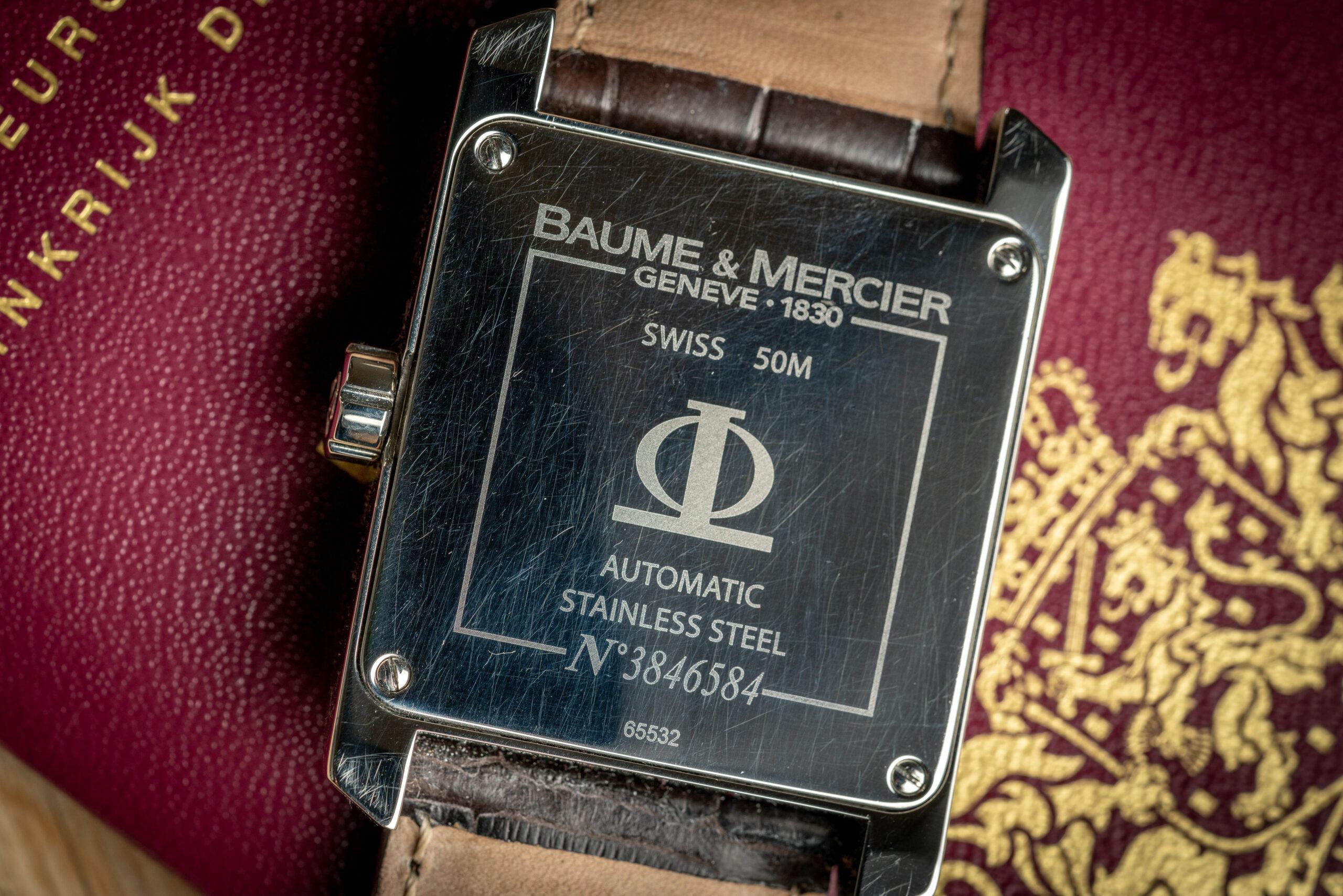 Baume et mercier hampton xl 65532 watch caseback