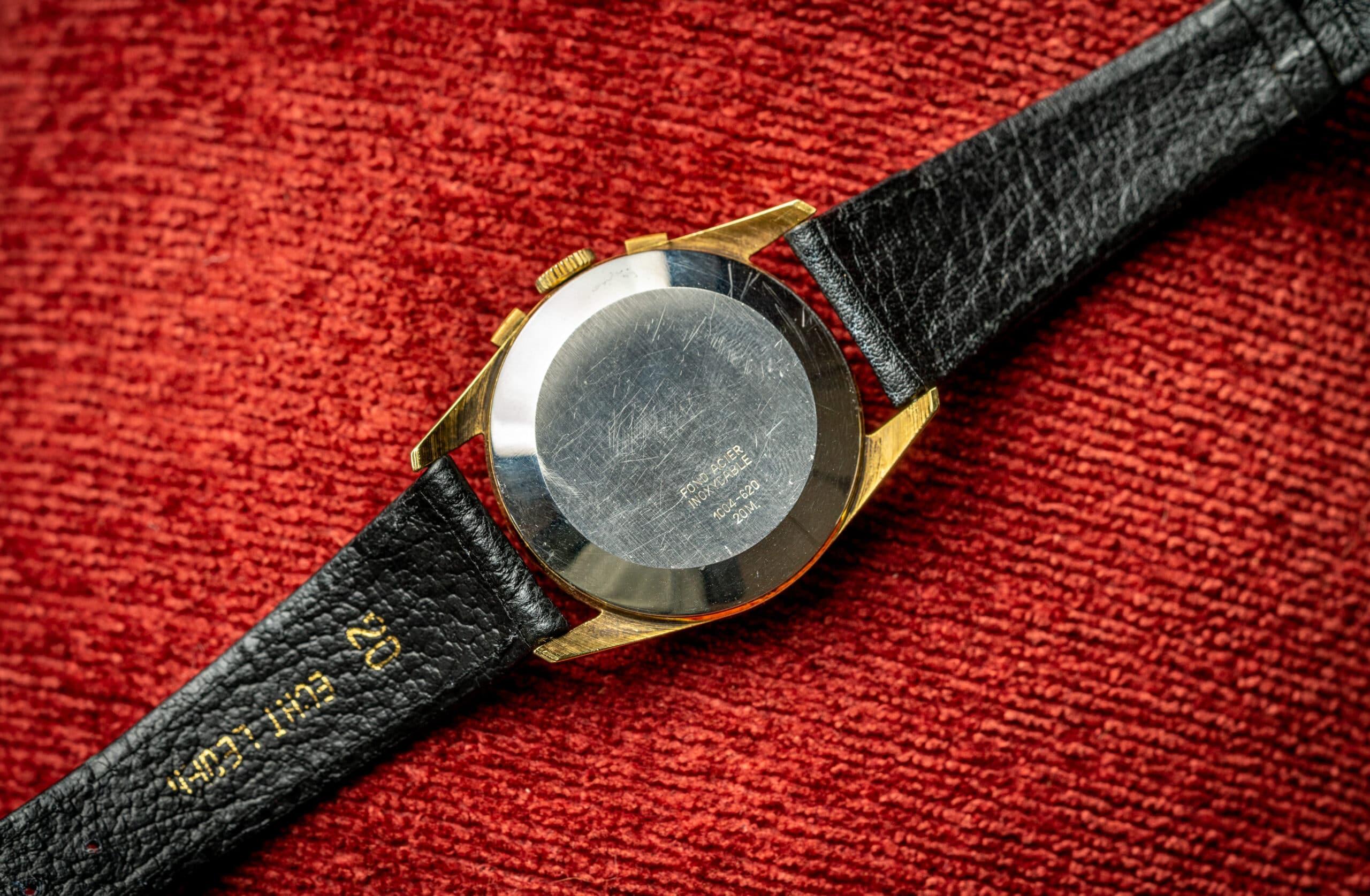 Plymouth chronograaf zwarte wijzerplaat gold cap